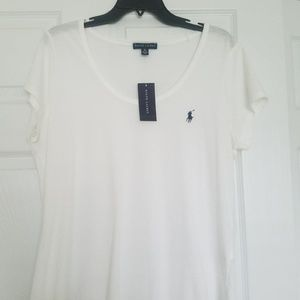 NWT Ralph Lauren white t shirt size XL